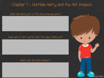 Horrible Harry & the Ant Invasion (#3) Novel Study (Great for Google Classroom)