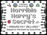 Horrible Harry's Secret (Suzy Kline) Novel Study / Comprehension (21 pages)
