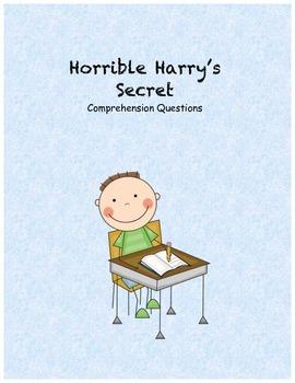 Horrible Harry's Secret comprehension questions