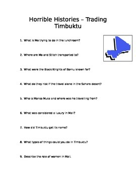 Horrible Histories: Trading Timbuktu
