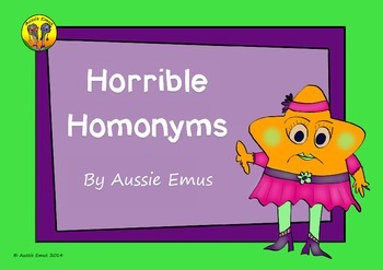 Horrible Homonyms