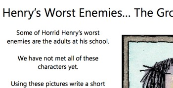 Horrid Henry character description prompt