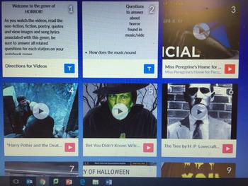 Horror Genre Text Triangulation for Halloween