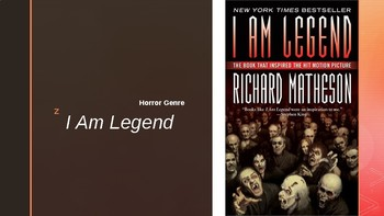 Horror Novel Studies I Am Legend All-In-One Lessons PowerPoint