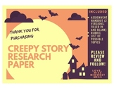 Horror Story Research Paper