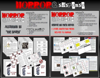 Horror & Suspense Extension Bundle - 8 Common Core Aligned