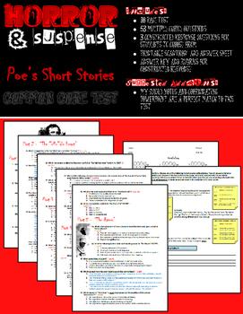 Horror & Suspense: The Best of Poe Test (Common Core Aligned)