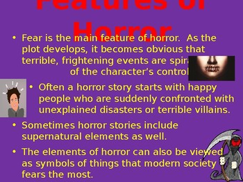 Horror genre lesson - Literary features and storytelling techniques
