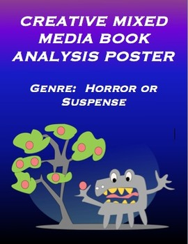 Genre: Horror or Suspense / Creative Mixed Media Poster Activity CCSS Based
