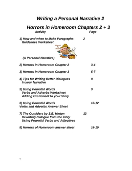 Horrors in Homeroom Ch 2+3  Polishing Your Narrative