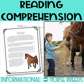 Horse Breeds Cold Read Passages with Comprehension Questions