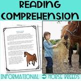 Horse Breeds Cold Read Passages **HIGH INTEREST**