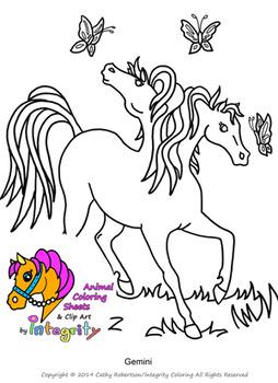 Horse Coloring Pages Vol 1 Fantasy Genre 8 Fun Coloring Sheets