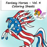 Horse Coloring Pages - Vol. 4 - Fantasy Genre - 8 Fun Coloring Sheets!