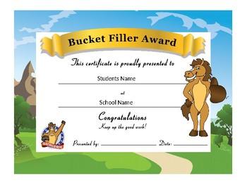 Horse/Colt/Mustang Award Certificates -Behavior