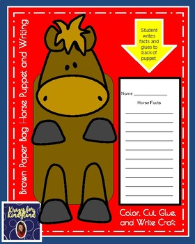 Horse Craft and Writing: Puppet (Farm Animal Research, Spring)