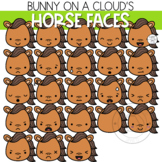 Horse Faces Clipart by Bunny On A Cloud