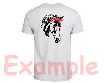 Horse Head whit Bandana Silhouette SVG clipart cowboy western Farm animal 845S