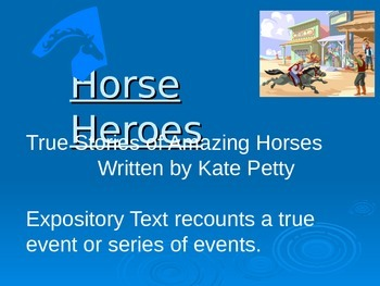 """Horse Heroes"" Reading Street Vocabulary Power Point"