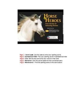 Horse Heroes Spelling Activities