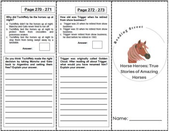 Horse Heroes: True Stories of Amazing Horses - 4th Grade Reading Street