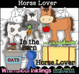 Horse Lover Clipart Collection NO LICENSE REQUIRED