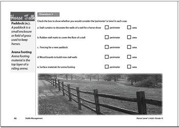 Horse Lover's Math Level 1 Workbook - Imperial version