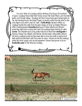 Horse: Non-Fiction Literacy Center or Close Reading Pocket Folders