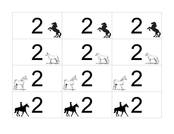 Horse Race Game - Numbers 1 - 30
