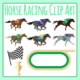 Horse Racing Derby Clip Art Set for Commercial Use