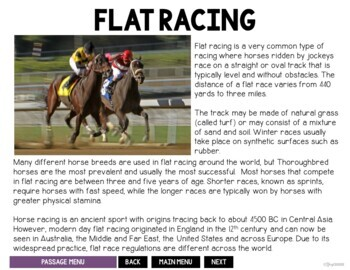 Horse Racing Speech and Language Packet