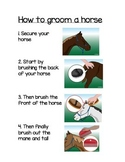 Horse Ranch Dramatic Play: Grooming Guide Literacy component