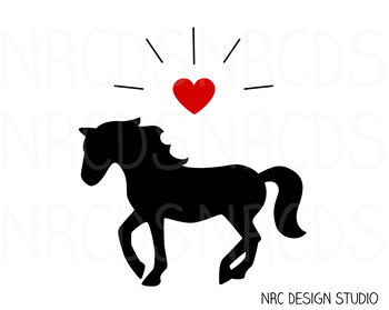 Horse SVG Cutting File - Commercial Use SVG, DXF, EPS, png