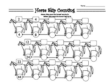 Horse Skip Counting