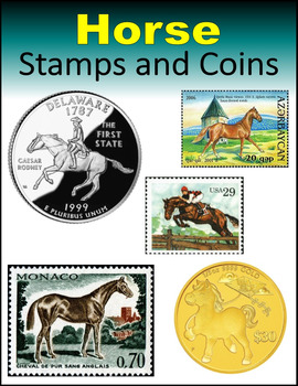 Horse Stamps and Coins