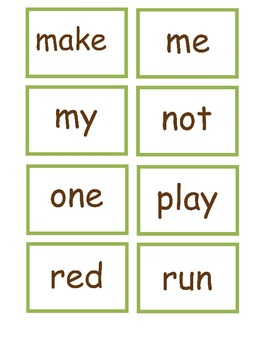 Horse Themed Spring Time BINGO with Preprimer Sight Words