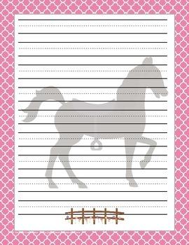 Horse Themed Stationary