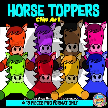 Horse Toppers Clip Art Commercial Use
