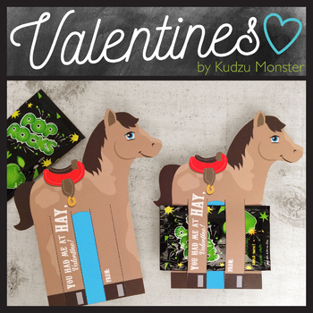 Horse with Saddle Valentine Candy Holder