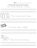 Horse Writing Page