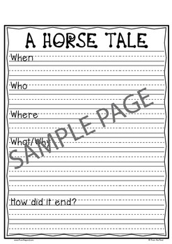 Horse Writing with Topper