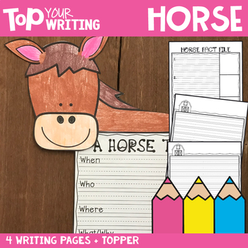 Farm Writing Activities - Horse Writing with Topper