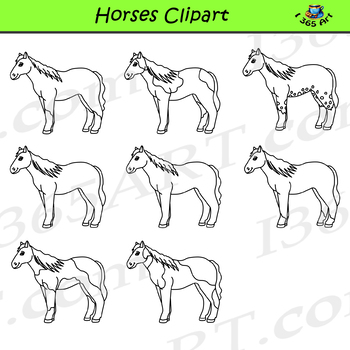 Horse and Pony Clipart Graphics - Commercial