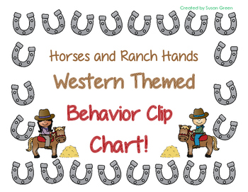 Western Themed Behavior Clip Chart (Horses and Ranch Hands)