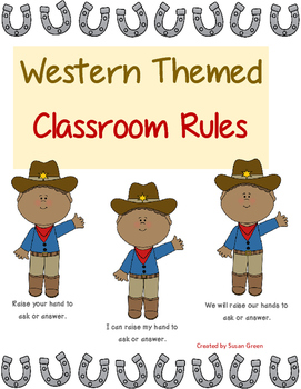 Western Themed and Horses Classroom Rules