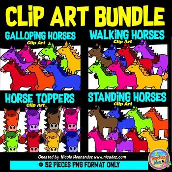 Horses BUNDLE Clip Art Commercial Use