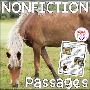 Horses Nonfiction Guided Reading Comprehension and Fluency Passages