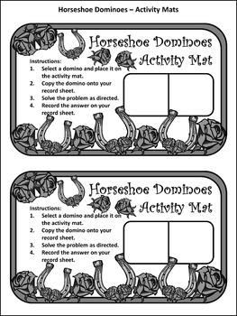 Horses: Horseshoe Dominoes