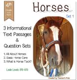 Horses Informational Text - Set 1