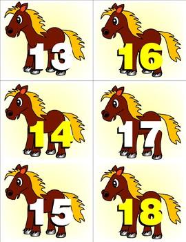 Horses Kit One  - Themed Learning Center Activity Kit